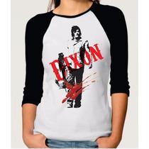 Camiseta Raglan Manga Longa Feminina The Walking Dead Daryl