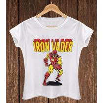 Blusa Feminina Babylook Iron Vader Iron Maiden Dart Vader