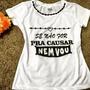 T-shirt Blusa Baby Look Bordada Tees Moda Camisa Tshirt