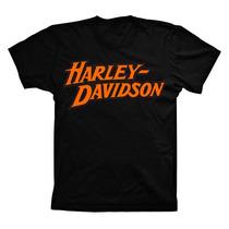 Camiseta Camisa De Moto Harley Davidson Motocicleta Algodão