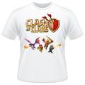Camiseta Infantil Clash Of Clans Jogo Celular Camisa