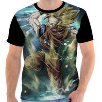 Camiseta - Camisa Goku Dragon Ball Super Sayajin Anime