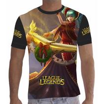 Camisa Camiseta League Of Legends Lol Dj Sona 02