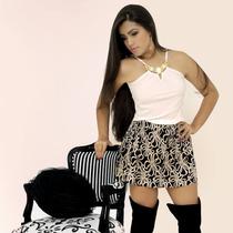 Blusa De Alça Colar Bordado Feminina Direto Da Fábrica