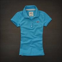 Kit C/ 5 Camisetas Feminina Hollister, Abercrombie E Outras