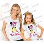 Blusa Mãe E Filha Minnie Baby Look Personalizadas Kit Com 2