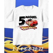 Camiseta Infantil Hot Weels Aniversario Personalizada