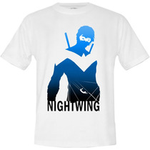 Camiseta Adulto, Asa Noturna, Herói, Super Heróis