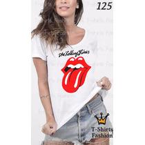 Camiseta T-shirt Stones Fashion Feminino Blusa Baby Look