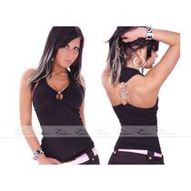 Blusas Feminina Top Cropped S/renda Regata Cavada Camisetas