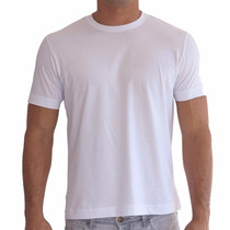Camiseta Branca Lisa Básica Tradicional 100% Algodãofio 30.1