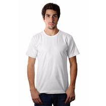 Camiseta Básica Cavada (slim Fit) Fio 30 Branca 100% Algodão