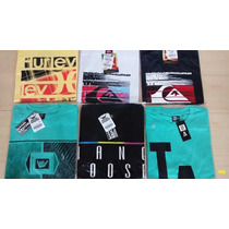 Kit 20 Camisetas Original Quiksilver Hurley Billabong Oakley