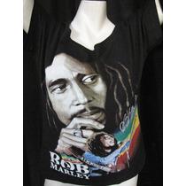 Blusinha Ombro Caído - Bob Marley