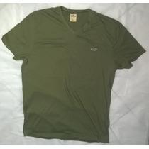 Camiseta Hollister Masculina Gola V Importada