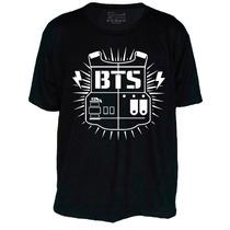 Camiseta Kpop K-pop Bts Banda Com Nome Nas Costas