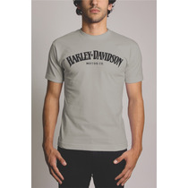 Camiseta Cinza Harley Davidson Personalizada