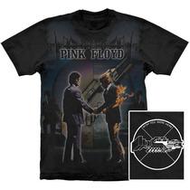 Camiseta Premium Pink Floyd Wish You Were Here Stamp