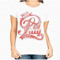 Camiseta Poliester Feminina Go Easy Free Stay Keep Trying