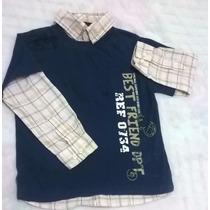 Camiseta Com Gola E Manga De Camisa Baby Club