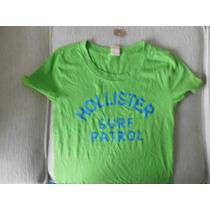 Camiseta Feminina Manga Curta Hollister Original Tam P/m/g