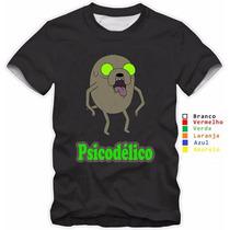 Camisa Camiseta Jake Psicodélico Hora De Aventura Algodão
