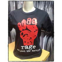 Camiseta Baby Look G Unisex Rage Against The Machine C/nf