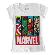 Blusa - Camiseta - Tshirt Feminina Marvel Vingadores