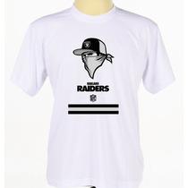 Camisa Camiseta Estampada Oakland Raiders Futebol Americano