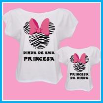 Kit Blusa Tal Dinda Tal Afilhada, Minnie Zebra, Madrinha