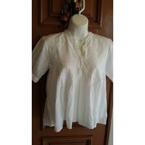 Blusa Bata Branco Algodão P Veste M Bohemiam Usada 42