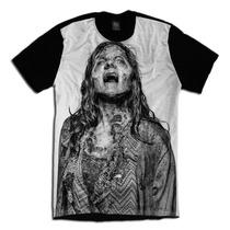 The Walking Dead Face Zumbi Serie Camiseta Personalizada