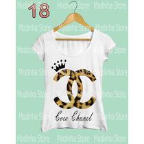 Tshirt Feminina Blusa Estampa Chanel Marca Moda Oncinha