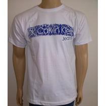 Camisa Camiseta Calvin Klein Gola Masculina 100 % Algodão
