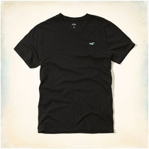 Camiseta Gola V Masculina Original Hollister