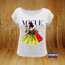 Blusa Gola Canoa Feminina Capa Vogue Branca De Neve Fashion