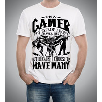 Camiseta Jogos Gamer God Of War Witcher Assassins Mk Ps3 Ps4