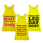 Frete Grátis! Combo Fitness Woman: 3 Regatas Femin. Amarelas
