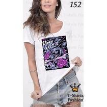 Camiseta T-shirt Blink-182 Fashion Feminino Blusa Baby Look