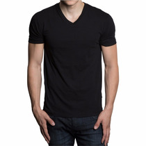 Camiseta Gola V Basica 100% Algodão Atacado 15 Pçs P Entrega