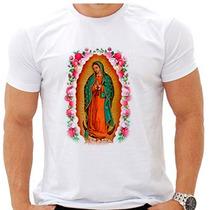 Camiseta Religiosa Gola Careca Nossa Senhora Guadalupe