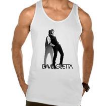Camiseta Regata Adulto David Guetta Dj Eletronico Trance 2