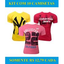 Kit 10 Camisetas Atacado Revenda Varias Marcas Atacado