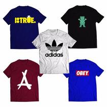 Kit 5 Camiseta Adidas, Grizzly, Dgk , Dope, Diamond Outlet