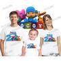 Lebrança De Aniversário Pocoyo Personagem Camiseta 3 Uni