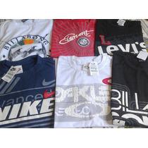 Kit C/10 Camisetas De Marcas Famosas Frete Grátis Aproveite