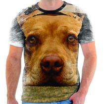 Camiseta De Pitbull,cachorro,animal,estampada 3