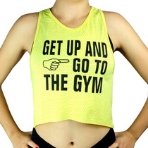 Regata Camiseta Cropped Dry-fit Feminina Fitness Academia