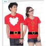 Fantasia Papai Noel + Mamãe Noel Camiseta Natal Namorados