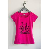 Camiseta Feminina Em Flamé Varias Estampas. Promoção